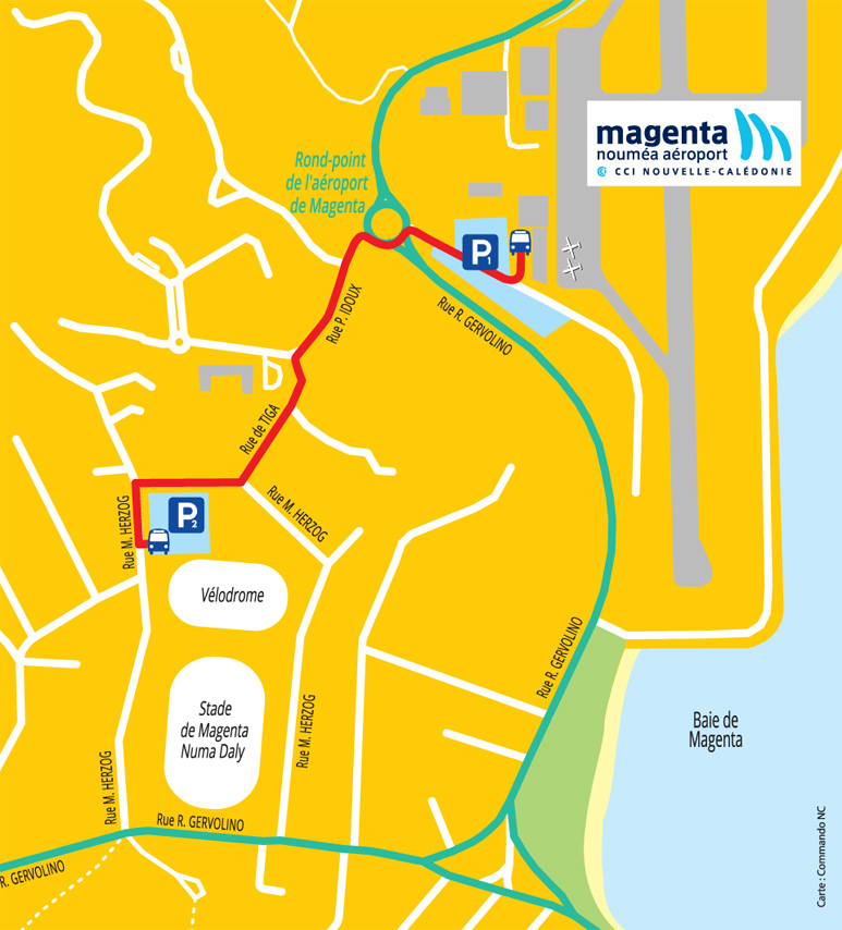 Access plan of Magenta Airport